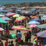 Playa Cerritos: Con el mar en calma